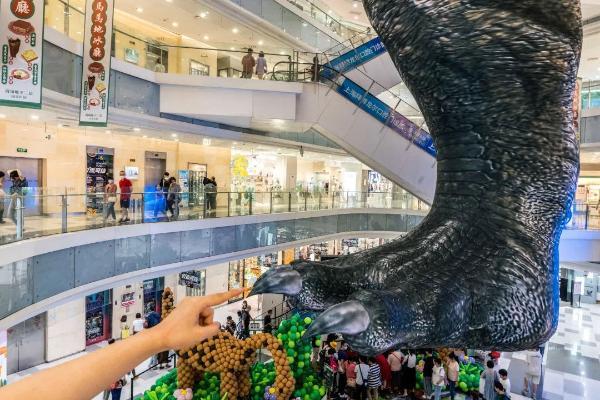 """""""巨型恐龙""""空降凯德虹口商业中心, 势「步」可挡!"""