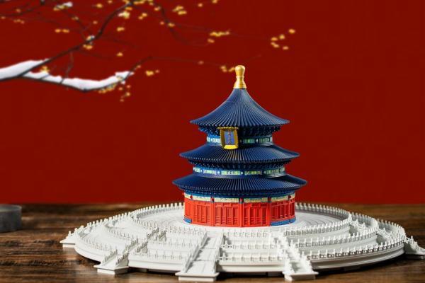 来了!千年榫营造积木 彩色版祈年殿小米商城开启众筹!