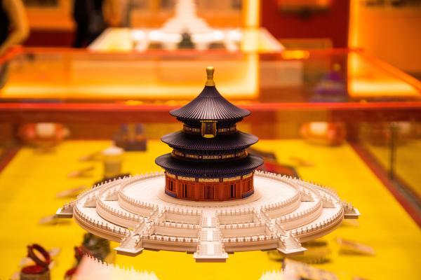 新款千年榫营造积木 天坛彩色纪念版,入主天坛西配殿