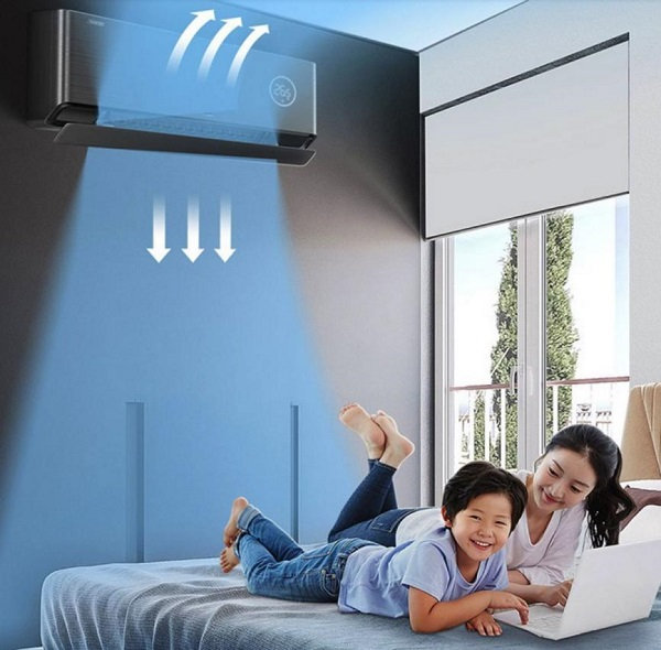 """儿童节在孩子卧室升起小蓝翼,TCL卧室新风空调""""吹来""""抚仙湖上的微风"""