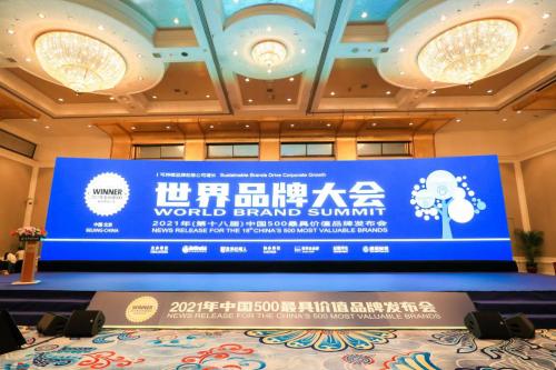"""迪阿股份入选""""2021年《中国500最具价值品牌》500强!"""""""