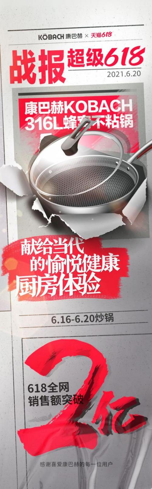 康巴赫618销售额破2亿,品类爆款蜂窝锅再创神话
