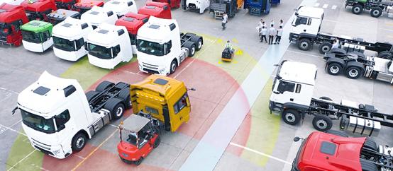案例:陕汽集团如何运用威盛叉车安全系统提升厂区安全?