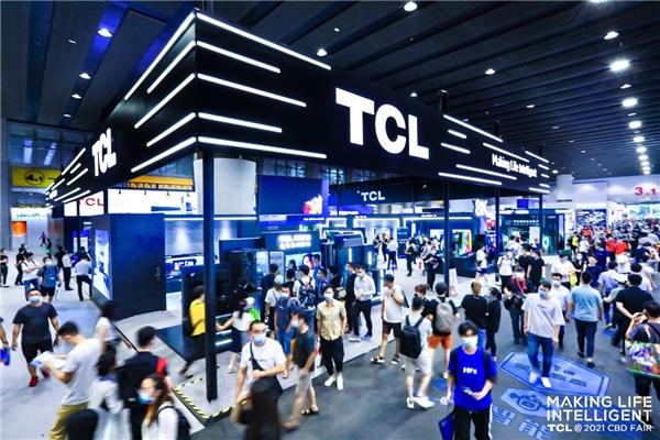 携手智慧黑科技亮相,TCL成建博会人气爆棚展位
