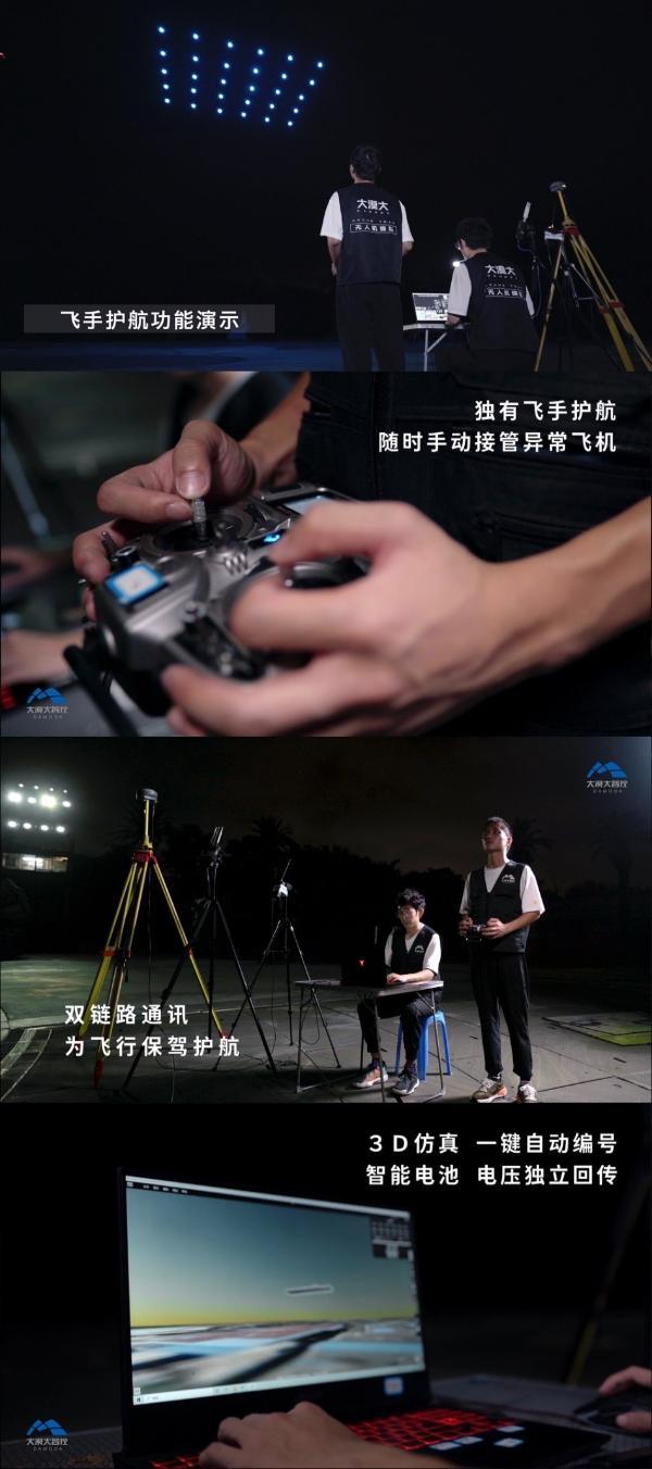 """深圳大漠大智控全新一代室外编队无人机产品""""天玑""""正式亮相"""