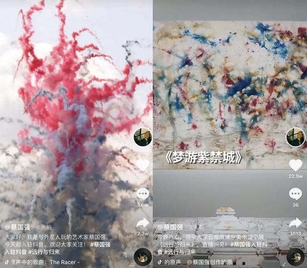 艺术家蔡国强:通过抖音直播分享艺术和人生故事,这种形式很好