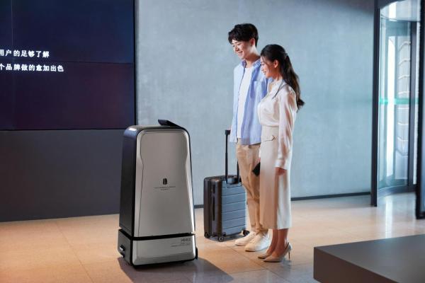 呈小递双舱配送机器人惊艳亮相,助力东呈酒店数智化生态布局