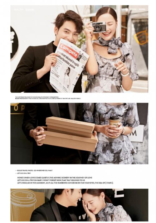 谁说婚纱照不能黑色?铂爵旅拍深圳街拍玩转酷飒风