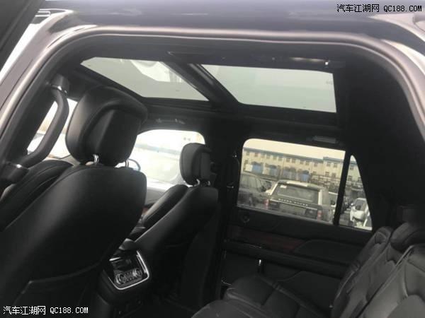 18款美规林肯领航员3.5t全景天窗现车报价