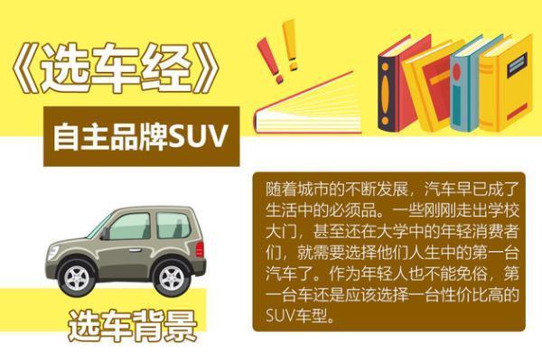 自主品牌SUV的选车经 送给年轻的消费者