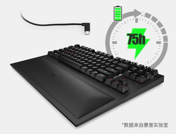 采用樱桃茶轴 惠普推出暗影精灵无线机械键盘