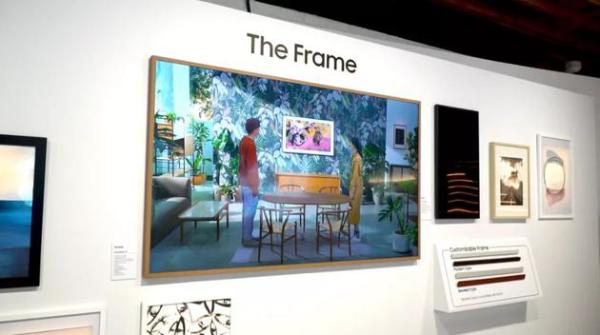 三星2021款画框电视亮相CES,32/43英寸版本支持纵向显示