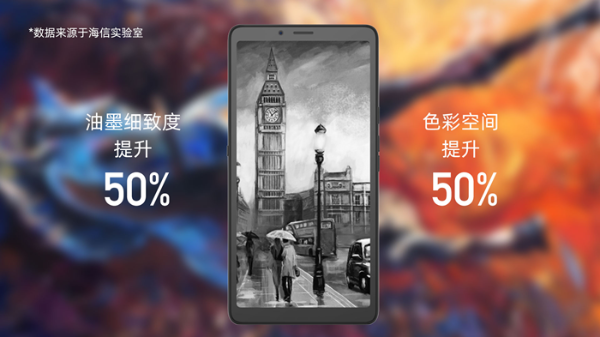超大杯装更尽兴 海信5G阅读手机A7彩墨屏CC版开售