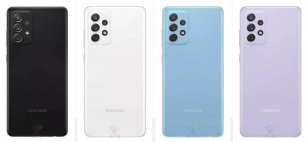 三星Galaxy A72渲染图曝光 后置四摄组合