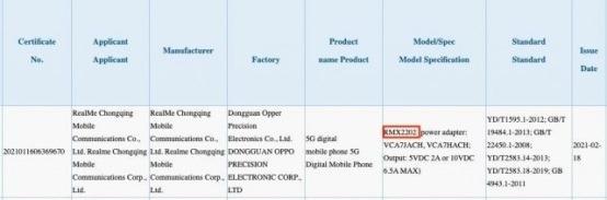 Realme GT 5G 3C 认证信息公布:3月4日发布