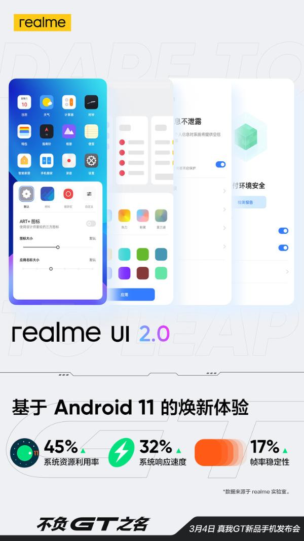 realme GT将搭载realme UI 2.0,带来焕新体验