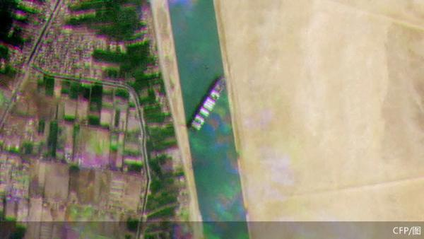巨轮卡在苏伊士 全球贸易堵在一条河