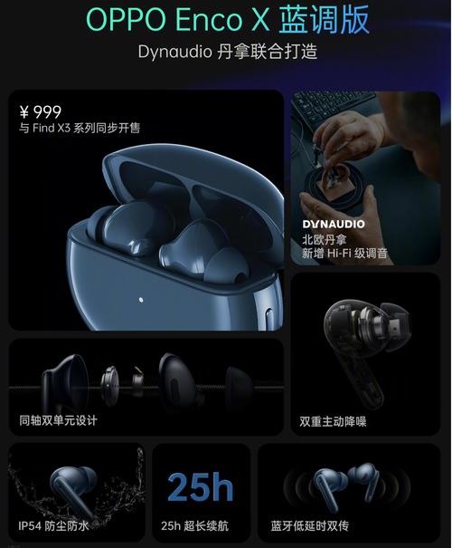 OPPO Enco X蓝调版降噪耳机发布,首发价919元