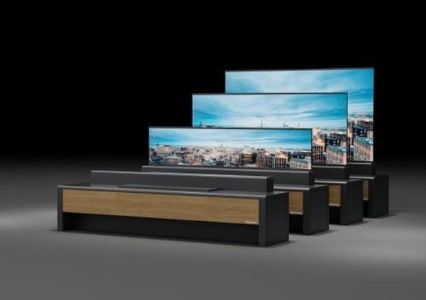 海信在AWE 2021推出全球首台卷曲屏激光电视