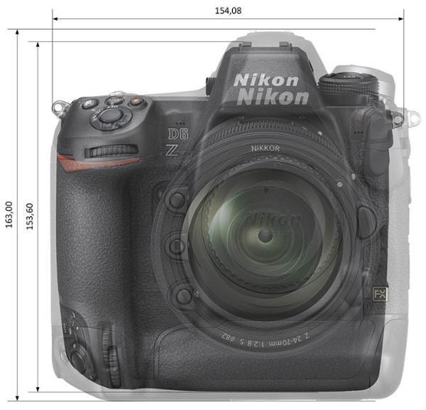 这样的大小你满意吗?尼康全画幅顶级微单Z9比D6瘦身15%?