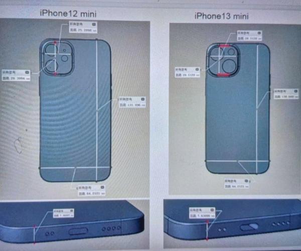 iPhone 13 mini渲染图曝光,摄像头大改