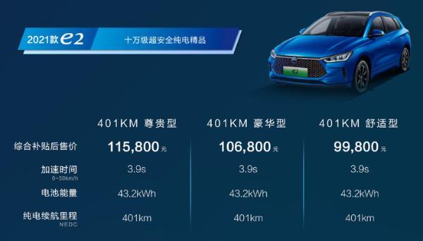 比亚迪发布4款新车,搭载刀片电池