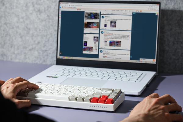 佳达隆红轴力作!雷神机械键盘KC3068霜华评测