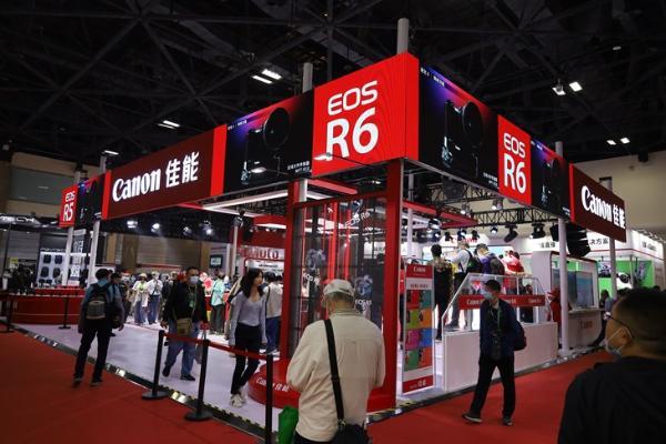 P&E2021:佳能展台EOS R5及热门新品齐亮相