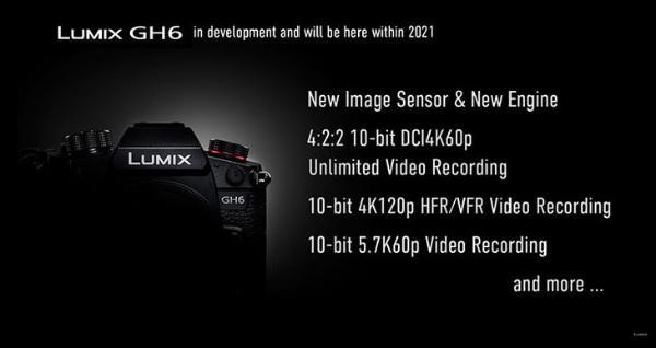 支持4K/120p 松下宣布开发GH6并在年底前正式发布