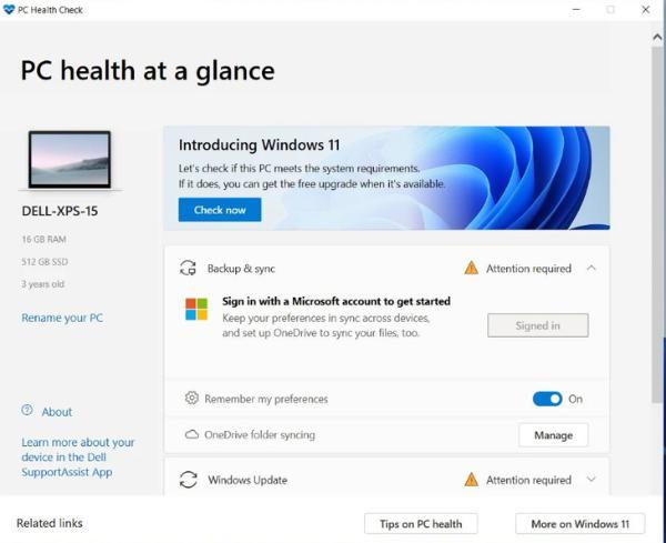 微软发布全新应用,检测是否可运行Windows11