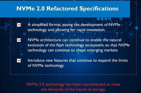 NVMe 2.0规范近期发布,机械硬盘也能用
