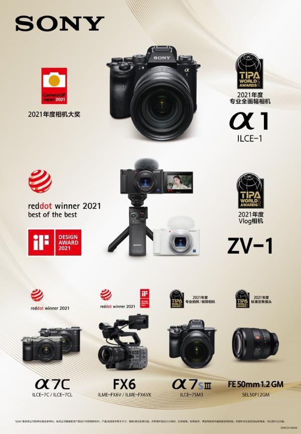 索尼多款影像产品斩获TIPA、Camera GP Japan、红点和iF设计奖