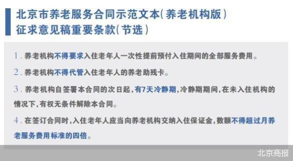 7天冷静期如何影响北京养老机构