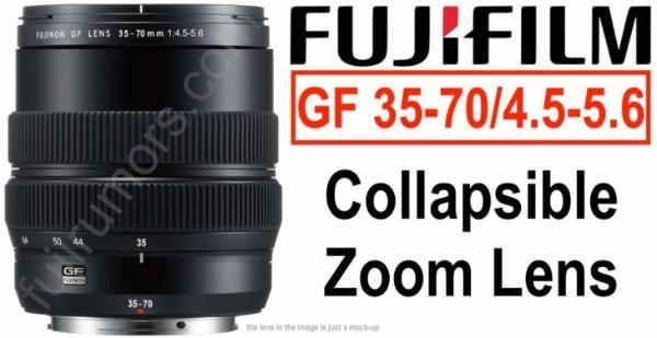 富士廉价GF镜头35-70mm或使用伸缩式收纳结构