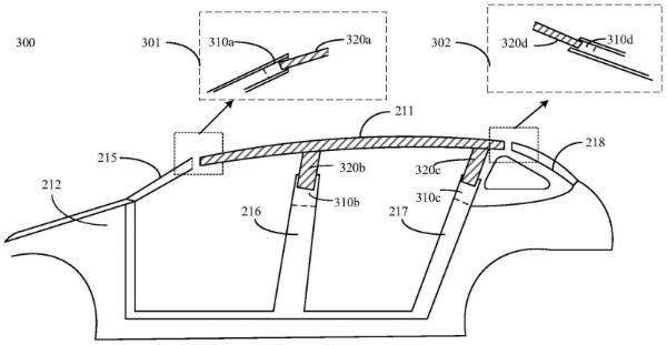 """华为公开""""车顶调节系统""""相关专利,可降低风阻或增大车舱空间"""
