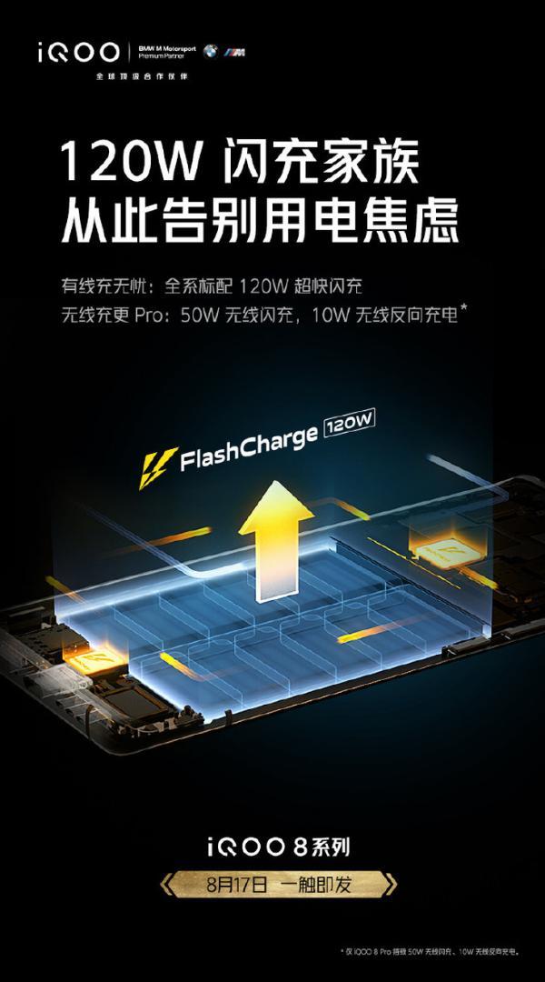 iQOO官宣,新一代手机将全系搭载120W闪充