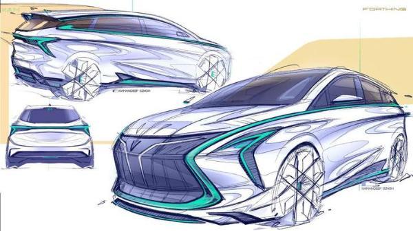 全新Logo/7座布局,东风风行全新MPV车型设计图曝光