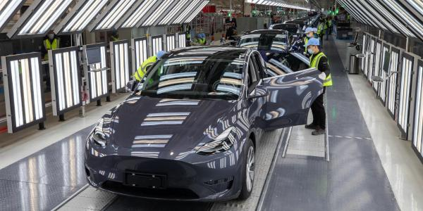产量,电动汽车,热点车型,特斯拉,疫情,特斯拉上海超级工厂生产线8月曾停产4日