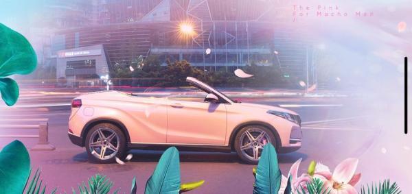 风光500敞篷版官图发布 粉色车漆 姿态到位
