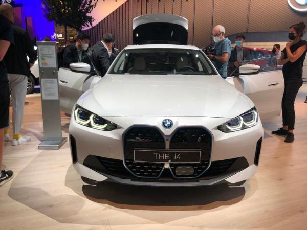 2021慕尼黑车展:宝马i4线下首秀