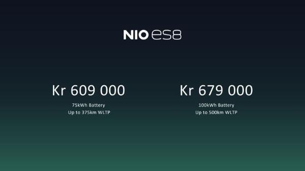 蔚来,电池,蔚来ES8,挪威