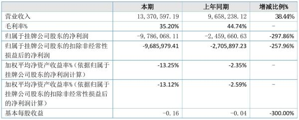 鼎新高科2021年半年度亏损978.61万元 同比亏损增加297.86%