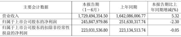 康尼机电2021年半年度净利2.46亿元 同比净利减少2.30%