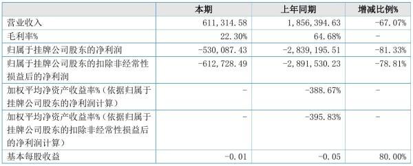 ST长江海2021年半年度亏损53.01万元 同比亏损减少81.33%