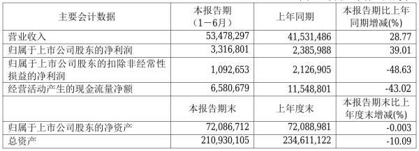 华电国际2021年半年度净利33.17亿元 同比净利增加39.01%