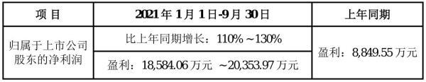 裕兴股份2021年前三季度预计净利1.86亿元–2.04亿元 比上年同期增加110%–130%