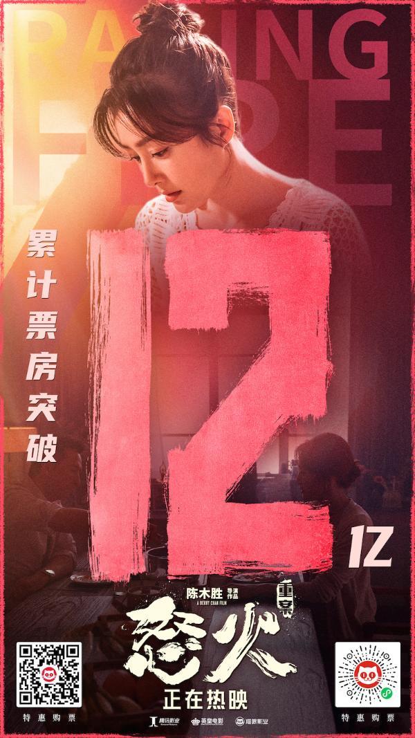 谢霆锋、秦岚领衔主演的电影《怒火·重案》破12亿