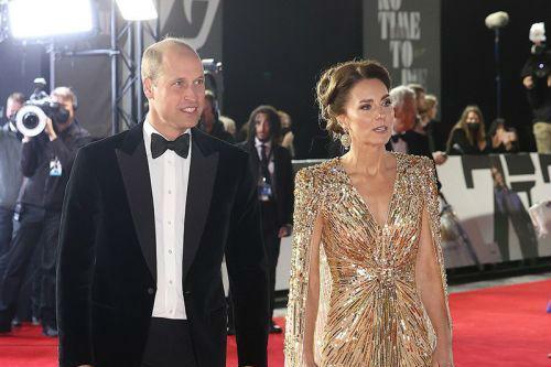 电影《007:无暇赴死》举行全球首映礼 威廉王子夫妇盛装出席