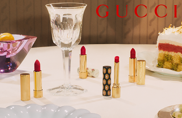 GUCCI BEAUTY全新无暇水光气垫粉饼、珠光唇膏全新三色、润唇膏全新一色上市!