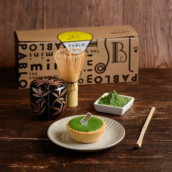 PABLOX辻利茶铺抹茶芋泥起司塔:京都抹茶+半熟起司塔和芋泥内馅太诱人!